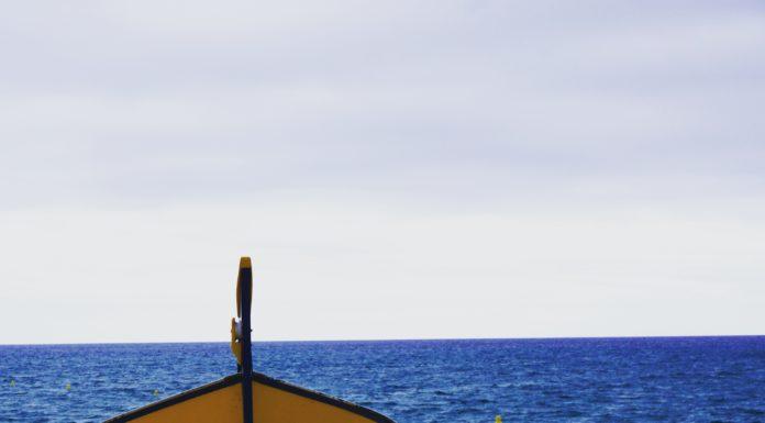 boats at calella sand